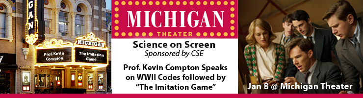 CSE Sponsors Science on Screen Night at Michigan Theater